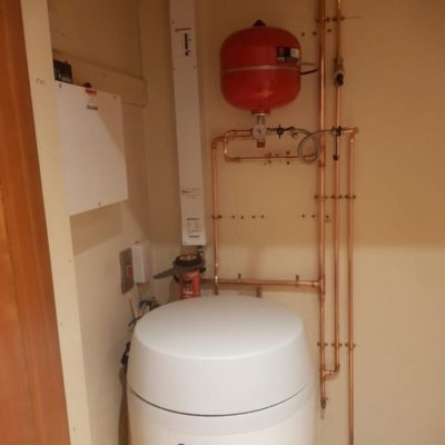 Electric Boiler and Cylinder Installed