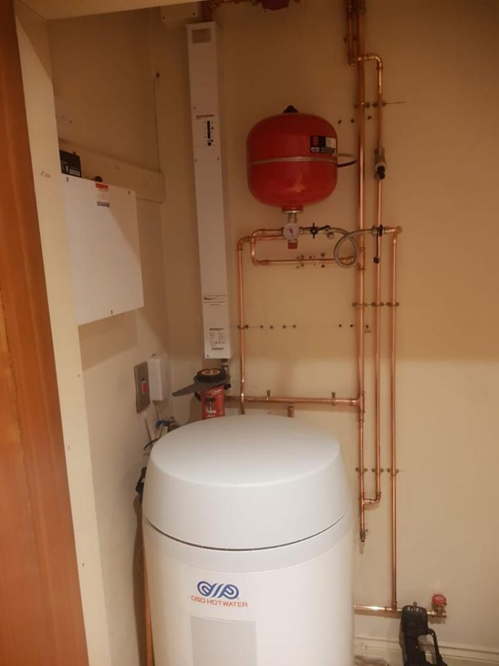 electric boiler and cylinder